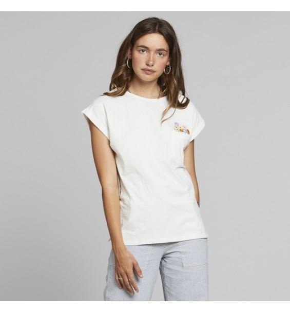 T- Shirt Visby  flower pocket S1